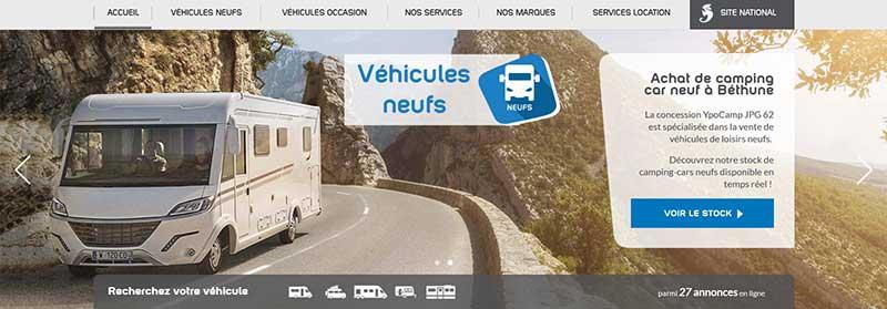 Un grand choix de camping-cars et de caravanes